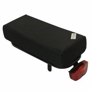 Hooodie Bagagedragerkussen BIG Cushie Black Solid