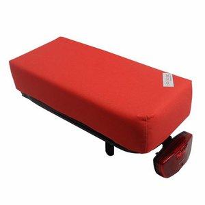 Hooodie Bagagedragerkussen BIG Cushie  Red Solid