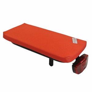 Hooodie Bagagedragerkussen Cushie Bright Red Solid