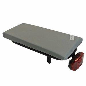 Hooodie Bagagedragerkussen Cushie Silver Solid