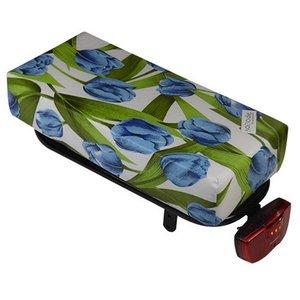 Hooodie Bagagedragerkussen BIG Cushie Tulips Blue