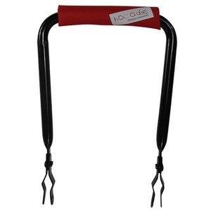 Hooodie Rugsteun zwart met Red Solid rugkussentje