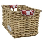 Wicked Rieten Fietsmand M Red Checker naturel