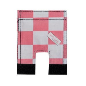 Wicked Rieten Fietsmand M Pink Checker naturel