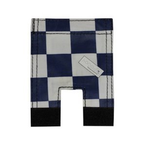 Wicked Rieten Fietsmand L Navy Checker grijs