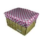 Hooodie Fietskrat Hoes Large Pink Checkers