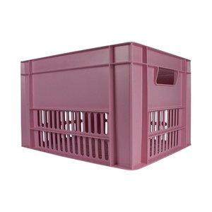Kerri Kunststof Fietskrat Baby Pink / Roze
