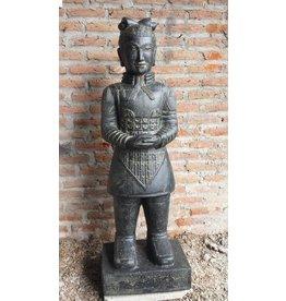 Eliassen Stenen beeld Chinese krijger beeld 175cm