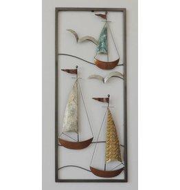 Eliassen Wanddekoration Boote 3 25x60cm