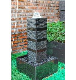Eliassen Terrace fountain Ariel granite
