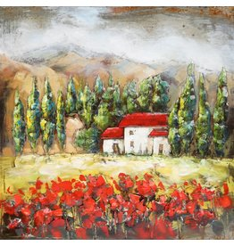 Eliassen Metaal schilderij Dordogne 80x80cm