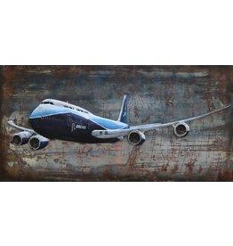 Eliassen Metal 3D painting 747 140x70cm