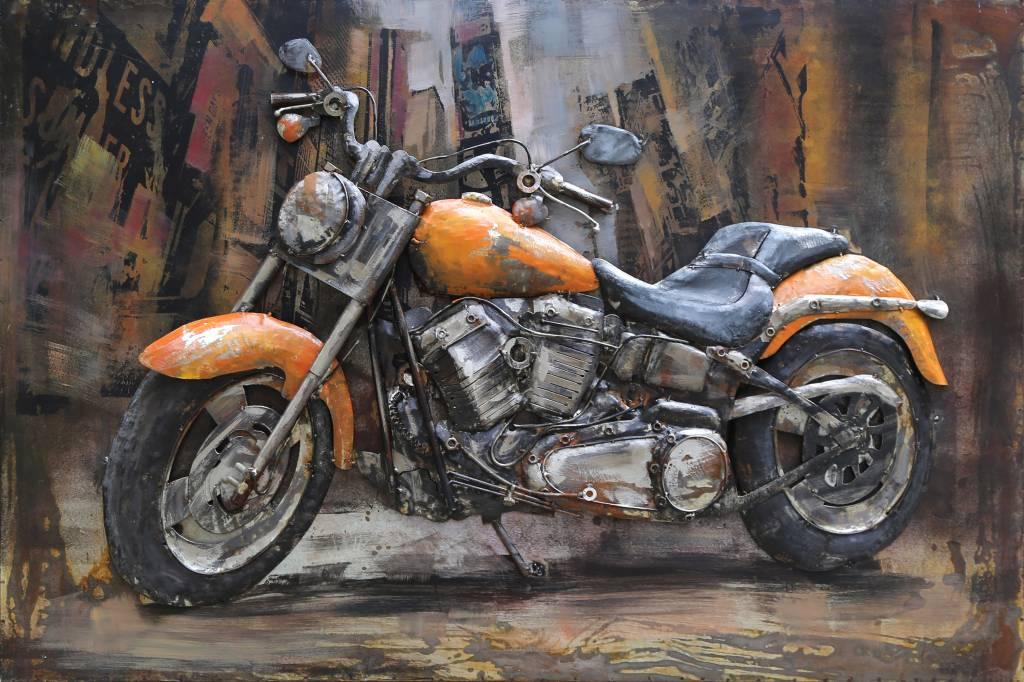 Metalen 3d Schilderij.Metalen 3d Schilderij Harley 3 120x80cm