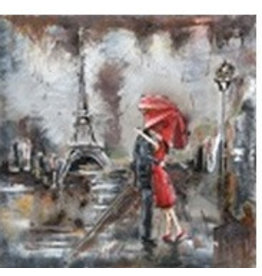 Eliassen Metal 3d painting Paris 60x60cm