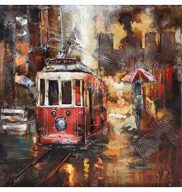 Eliassen Metall 3d Malerei Tram3 60x60cm