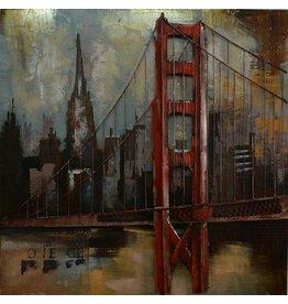 Eliassen 3d painting metal Brooklyn 100x100cm