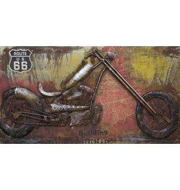 Eliassen 3D schilderij metaal 70x140cm Harley Life
