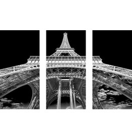 Eliassen 3 parts glass painting 120x80cm Eiffel Tower