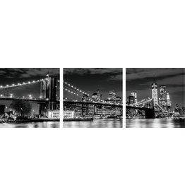 Eliassen 3 Luke Glasmalerei 180x60cm Stadt bei Nacht