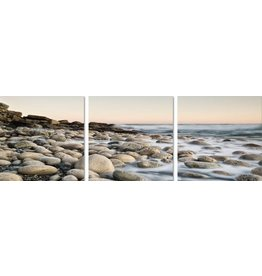 Eliassen 3 luik glasschilderij 180x60cm Keien