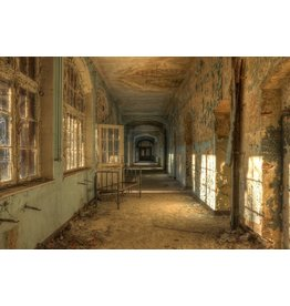 Ter Halle Glass painting Old Hospital 100x150cm