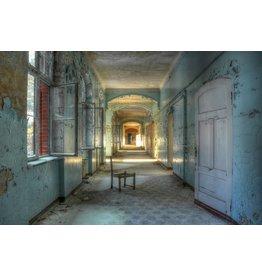 Ter Halle Glas schilderij Landhuis 110x160cm