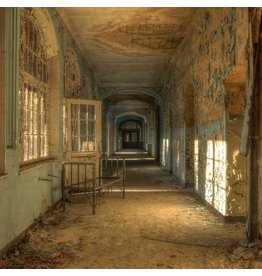 Eliassen Glas schilderij 100x100cm Ziekenhuis