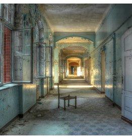 Eliassen Glass painting 100x100cm Abandoned