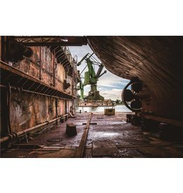 Eliassen Foto auf Glasmalerei 60x90cm Werft