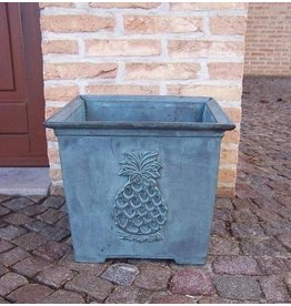 Eliassen Bronze flower box with pineapple