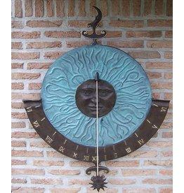 Eliassen Wall sundial bronze super-large