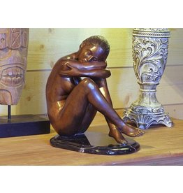 Eliassen Zittende naakte vrouw brons