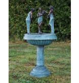 Eliassen Bronzen fontein met 3 vrouwen