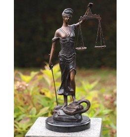 Eliassen Kleine vrouw Justitia brons