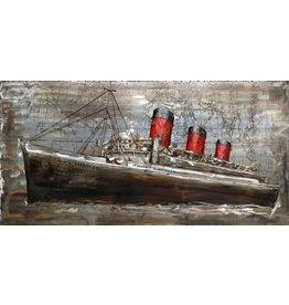 Eliassen 3D painting 70x140cm Steamboat