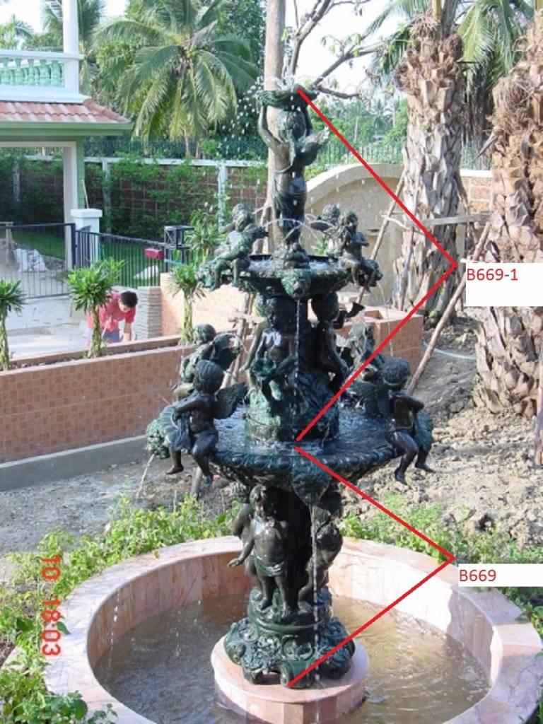 Eliassen Bronzen beeld fontein met engeltjes