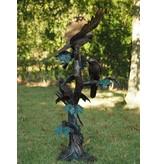 Eliassen Bronzen beeld papegaaien op een boom