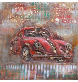 Eliassen 3D schilderij Porsche 100x100cm