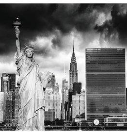 Eliassen Photo on glass painting 100x100cm Lady Liberty