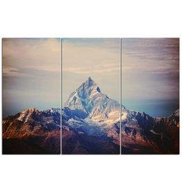 Eliassen 3luikschilderij glas XXL Berg