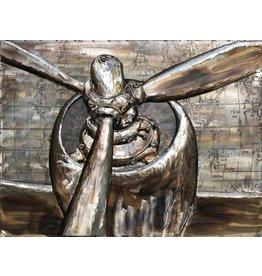 Eliassen Schilderij 3d metaal 60x80cm Propellers
