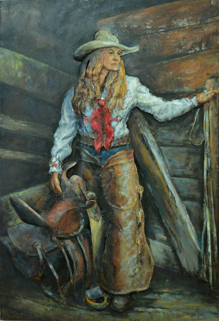 Eliassen 3d schilderij 80x120cm Cowgirl