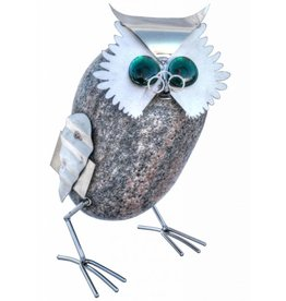 Stainless steel figure Owl Archimedes