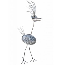 Figur Vogel großer Edelstahl Dorothea 1