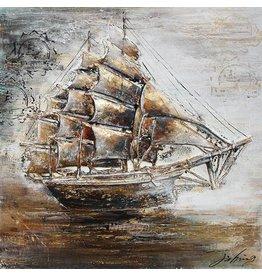Eliassen 3D Gemälde Leinwand 80x80cm Segelboot
