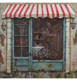 Eliassen Schilderij 3D ijzer 60x60cm Cafe