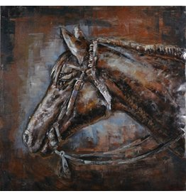 Eliassen Painting 3D iron 80x80cm Horse head