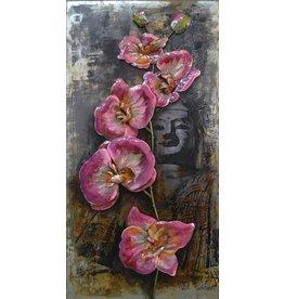 Eliassen Metaal schilderij 3D 60x120cm Bloemen