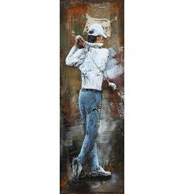Painting metal 3d 40x120cm Golf Swing