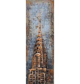 Eliassen Schilderij 3d metaal 50x150cm Chrysler Tower